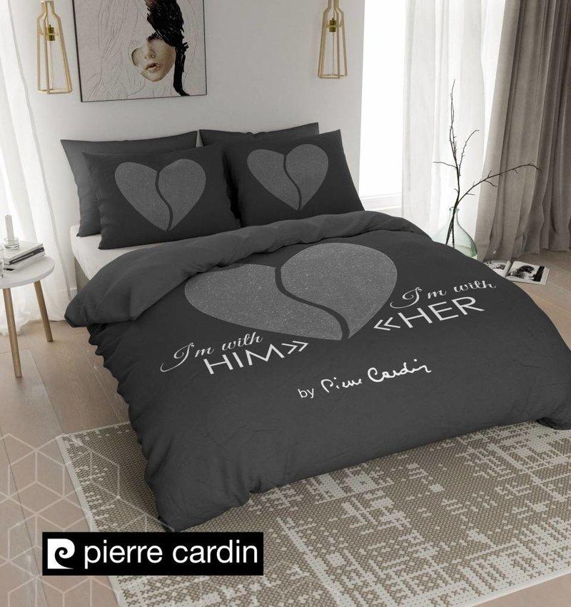 Pierre Cardin Bettwäsche Him / Her Dunkel Grau Silber DE / PL