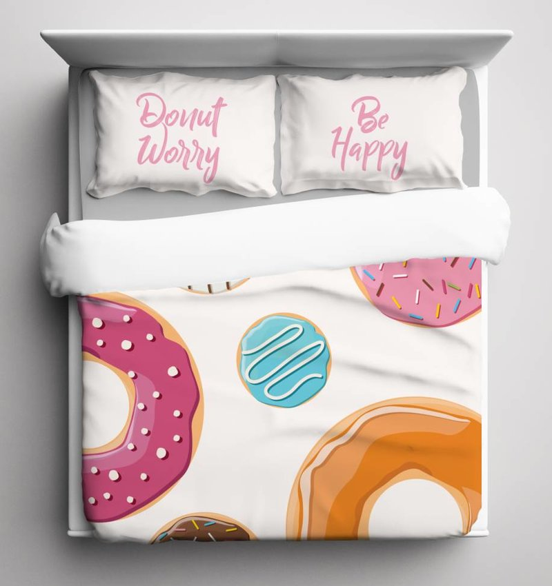 Nightlife Blue Bettwäsche Donut - DE