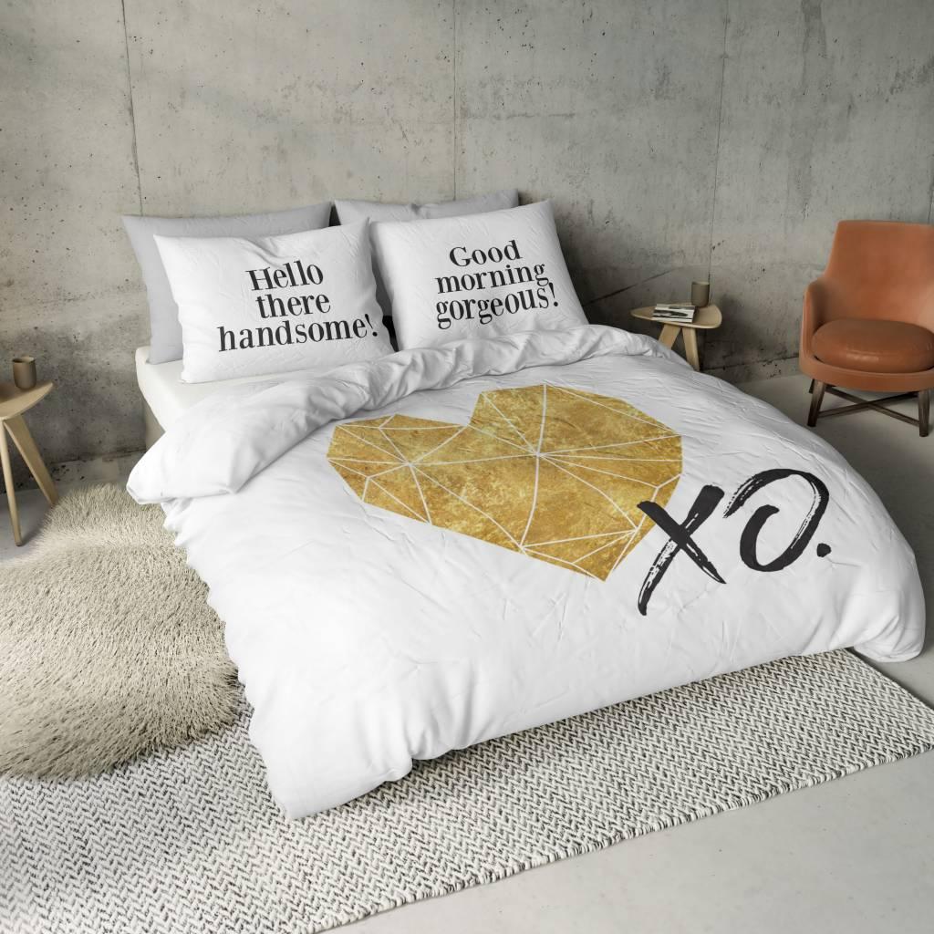 nightlife blue bettw sche gold heart de nightlifeliving. Black Bedroom Furniture Sets. Home Design Ideas
