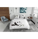 Nightlife Blue Bettwäsche Panda 200x200/220 60x70 (2)