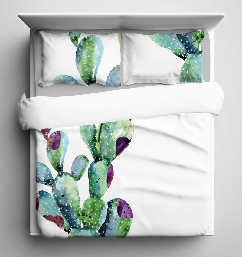 Nightlife Blue Bettwäsche Cactus 200x200/220 60x70 (2)