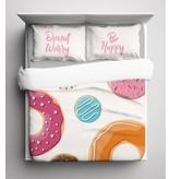 Nightlife Blue Bettwäsche Donut 240x200/220 60x70 (2)