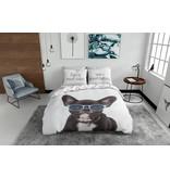 Nightlife Blue Bettwäsche French Bulldog 140x200/220 60x70 (1)