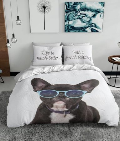 Nightlife Blue French Bulldog 140x200/220 60x70 (1)