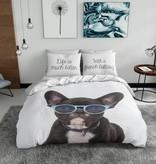 Nightlife Blue Bettwäsche French Bulldog 200x200/220 60x70 (2)