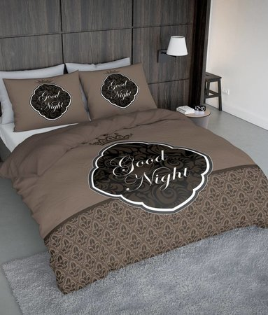Nightlife Concept Goodnight Barok Braun - DE - 160x200 - 70x90 (2) mit Reissverschluss