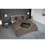 Nightlife Concept Bettwäsche Goodnight Barok Braun - DE - 160x200 - 70x90 (2) mit Reissverschluss