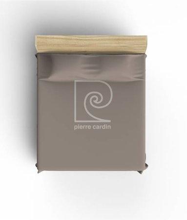 Pierre Cardin Bettlaken Logo Braun