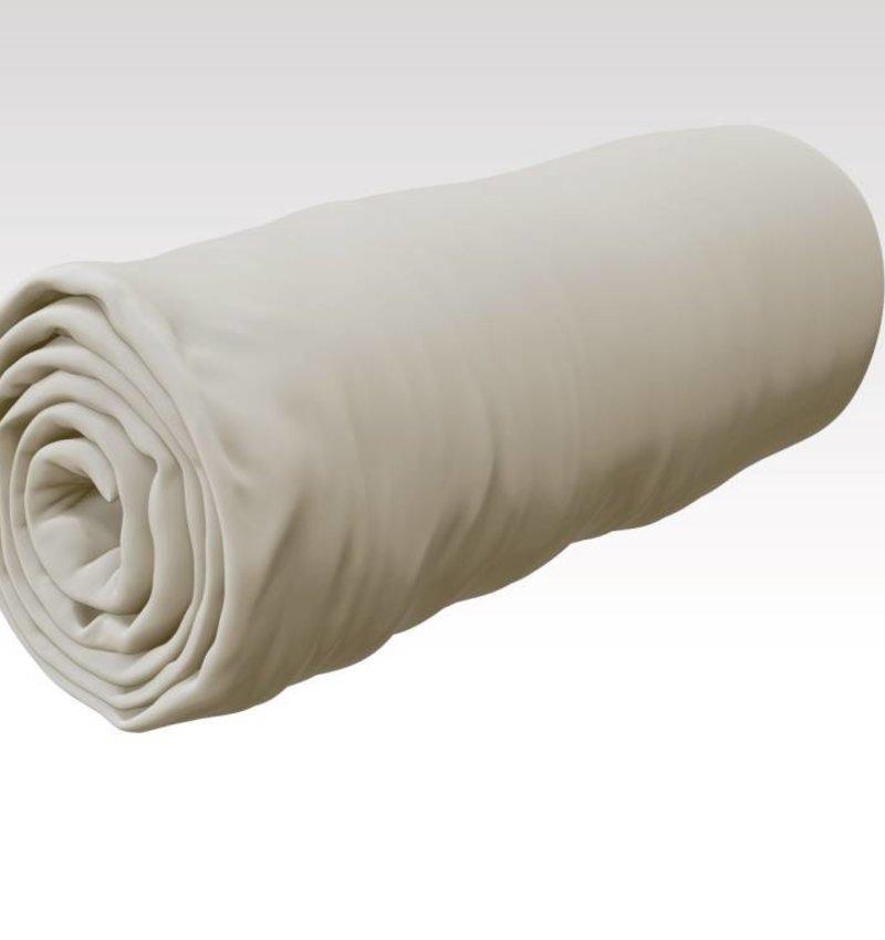 Nightlife Basic Trikot Bettlaken / Spannbetttuch 120 gramm Ecru (Roll-Paket)