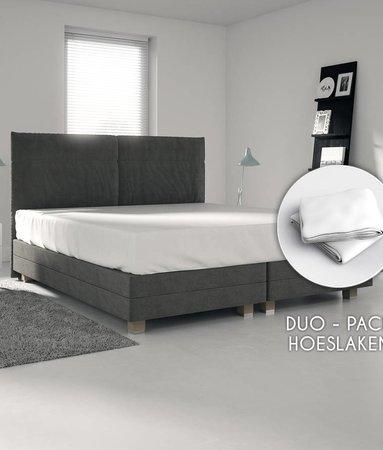 Wake-Up! Bedding Weiß Trikot Bettlaken1+1 kostenlos