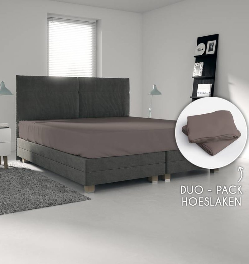 Wake-Up! Bedding Braun Trikot Bettlaken1+1 kostenlos