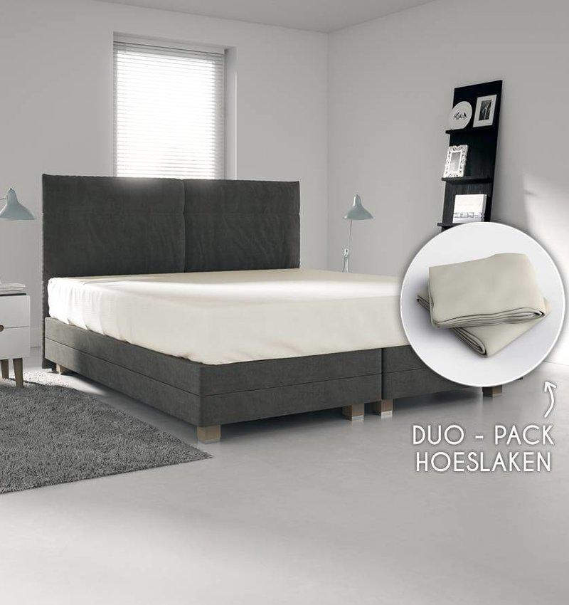 Wake-Up! Bedding Ecru Trikot Bettlaken1+1 kostenlos
