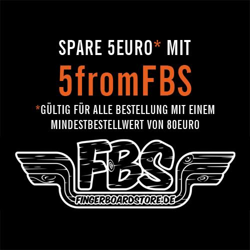 Benutze unseren kostenlosen 5 Euro Gutschein 5fromFBS