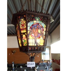 RoMaLux RML- 5528 Bronzen Tiffany hanglamp