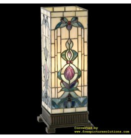 Demmerik 73 9220 Tiffany Tafel lamp Kubus model