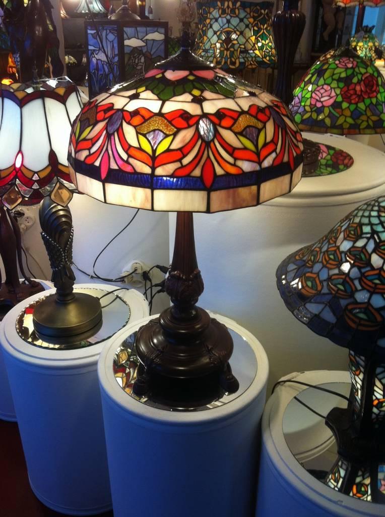 RoMaLux 7442 Tiffany Tafellamp