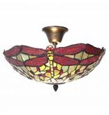RoMaLux 5848 Tiffany  plaffond lamp