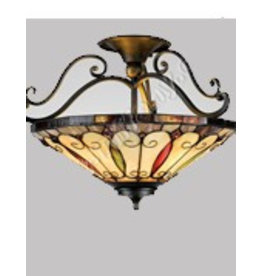 RoMaLux 7660 plafondlamp tiffany