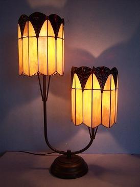 RoMaLux 7572 Tiffany Tafellamp 2 kappen