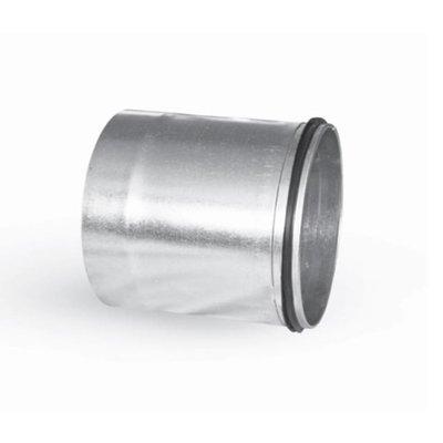 Koppelstuk lang ø125mm vrouwelijk-mannelijk met rub. dichting voor luchtkanalen