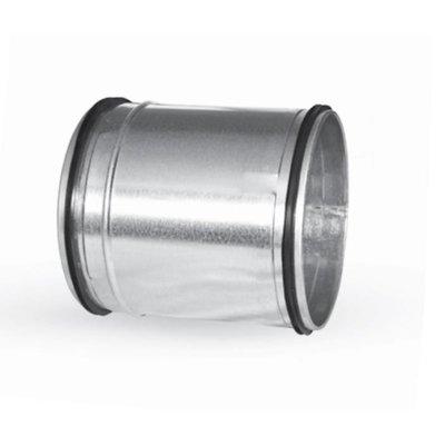 Koppelstuk lang ø80mm  mannelijk met rubbere dichting voor luchtkanalen