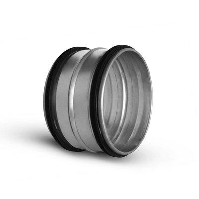 Koppelstuk ø224mm mannelijk met rubbere dichting voor luchtkanalen