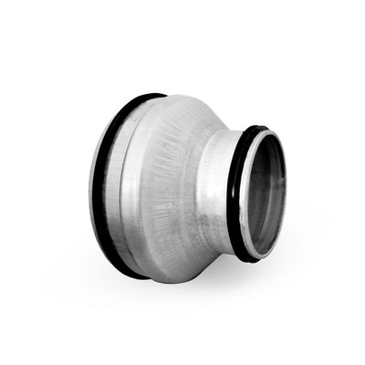 Reductie mannelijk ø355 naar ø250 met rubbere dichting voor luchtkanalen
