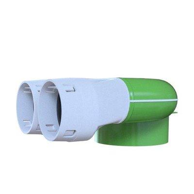 PE-Flex Ventielcollector 2x aansluiting (plafond)