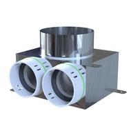 PE-FLEX INOX Ventielcollector 2x toevoer