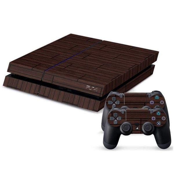 PS4 Skins Console - Wood Dark