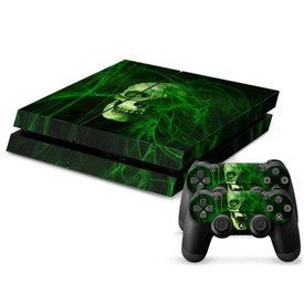 PS4 Skins Console - Green Skull