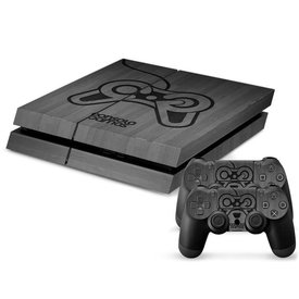 PS4 Skins Console - Grey Controller