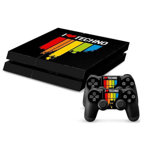 PS4 Skins Console - I Love Techno