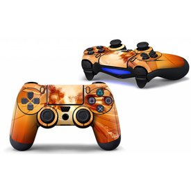 PS4 Skins Controller - Orange Abstract