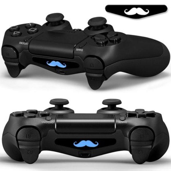 PS4 Skins Lightbar - Mustache