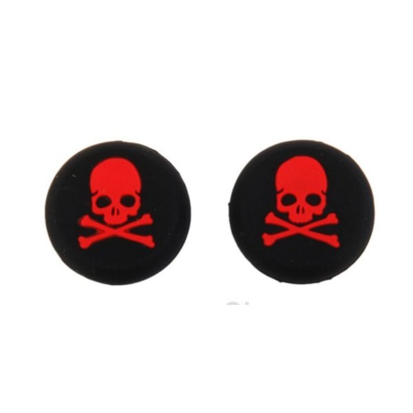 PS4 Thumbstick Grip - Skull Red