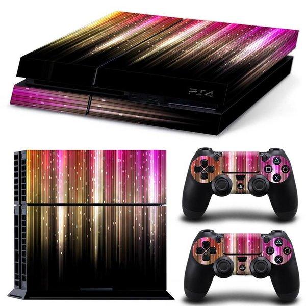 PS4 Skins Premium - Colourful Rain