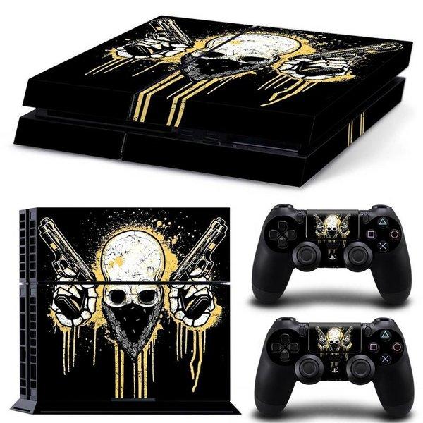 PS4 Skins Premium - Skull with Guns
