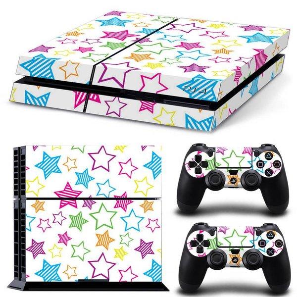 PS4 Skins Premium - Colourful Stars