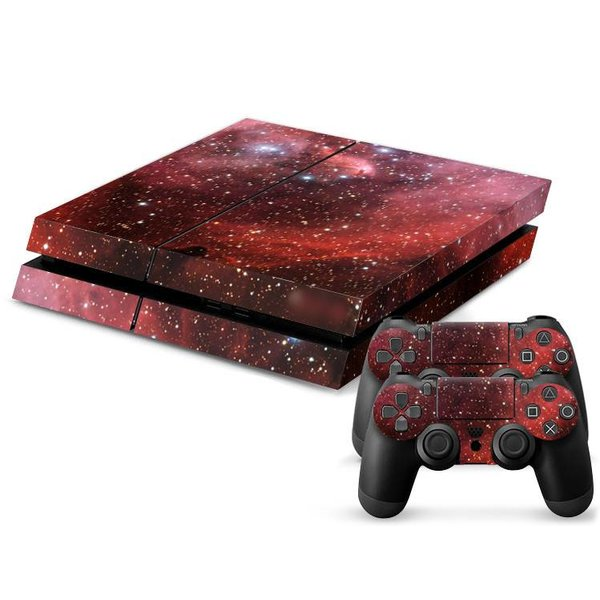 PS4 Skins Console - Universe Red