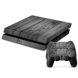 PS4 Skins Console - Grey Wood