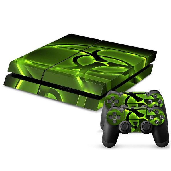 PS4 Skins Console - Biohazard Green