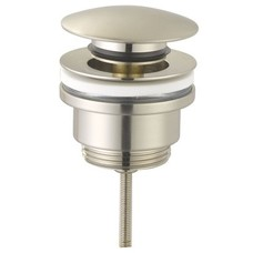 "Sanitairstunthal Pop up wastafelplug 1 1/4"" 42mm.afsluitbaar rvs / brushed nickel"