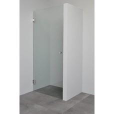 Sanitairstunthal Profielloze douchedeur 8 mm helder glas 90 cm breed x 200 cm hoog
