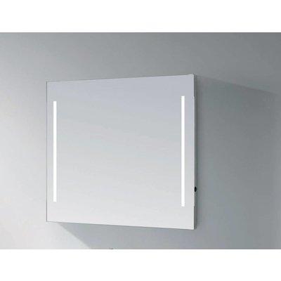 Sanitairstunthal spiegel 80 x 70 cm aluminium met indirecte verlichting aan de zijkant