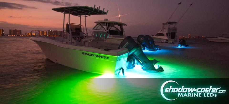 shadow-caster led lighting scm-6 aqua green underwater led light, Reel Combo