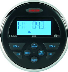 "Jensen Marine Audio JENSEN MS3A(RTL) AM/FM/USB/Bluetooth Compact 3.5"" Round Waterproof Stereo with App Control"