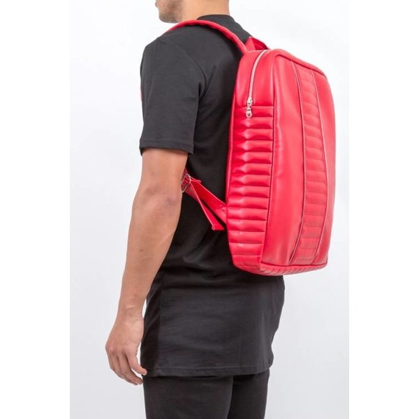 Red Panel Backpack
