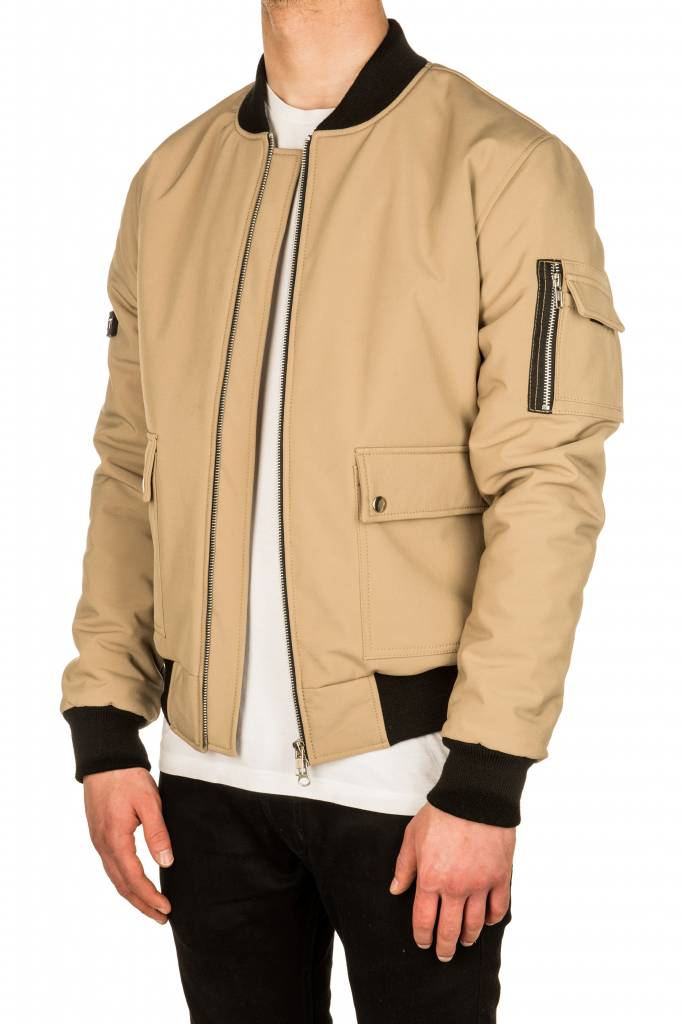 Beige Softshell Winter Bomber