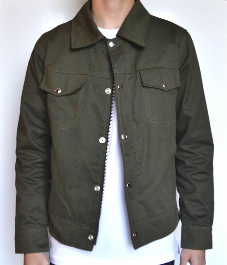 Olive Trucker Jacket